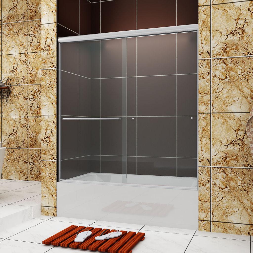 Sunny Shower 60 Quot Semi Frameless Sliding Tub Doors Clear