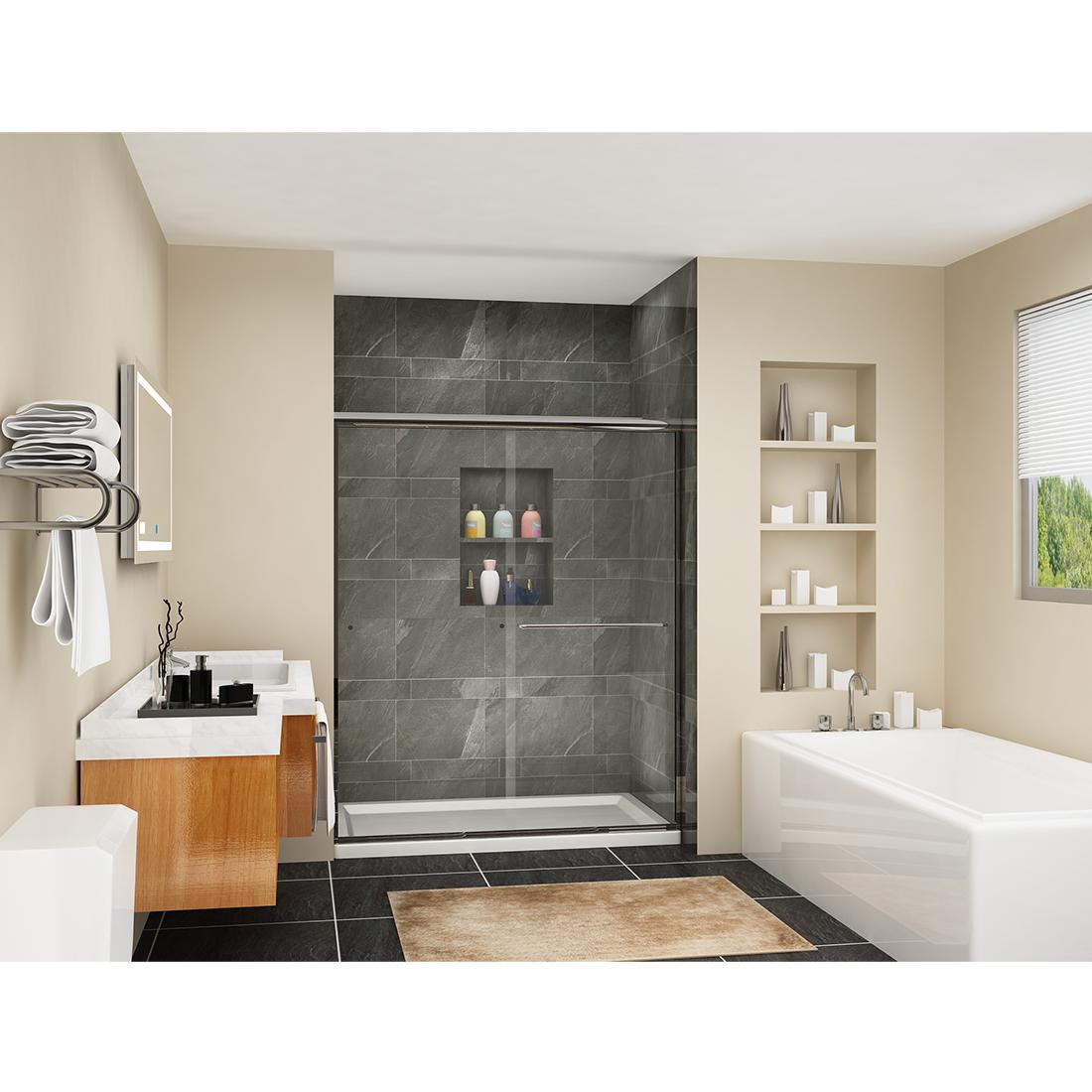 Sunny Shower Sliding Shower Doors 60 Quot X 72 Quot Semi Frameless
