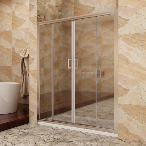 Sunny Shower Semi Frameless Double Sliding Shower Glass